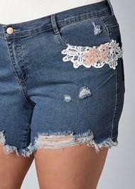 Alternate View Crochet Jean Shorts