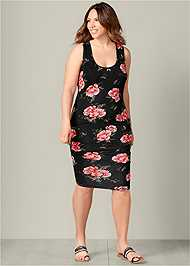 Front view Ruched Tank Dress