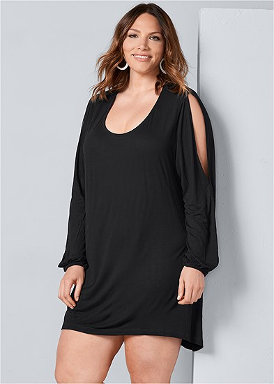 Plus Size Sleeve Detail Dress