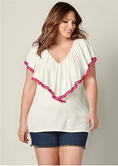 cbcf2e9a441f4 Plus Size Women s Tops on Clearance