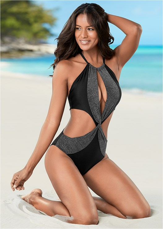 TWISTED MONOKINI,LOVE ME FOREVER DRESS
