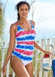 Front View Adjustable Long Tankini Top