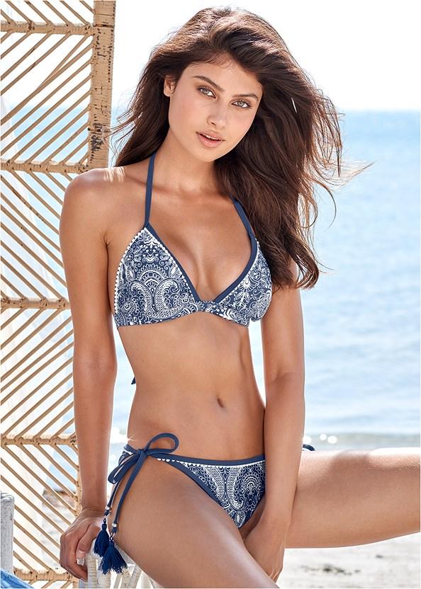 Pom Pom Bikini Bottom,Pom Pom Triangle Top,High Neck Sport Bikini Top,Underwire Enhancer Top,Ruched Side Halter Tankini Top,Smocked Cover-Up Jumpsuit