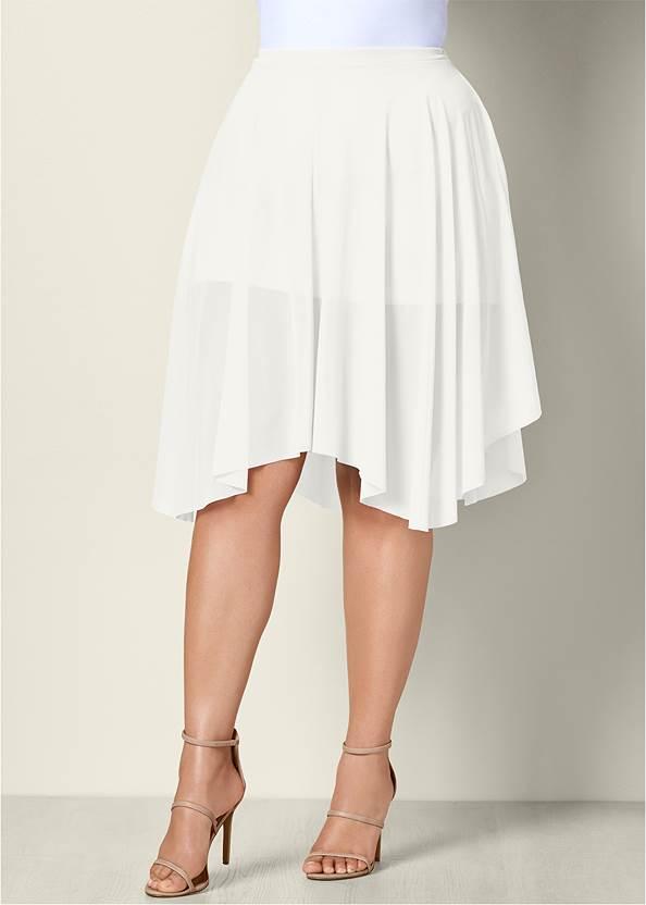 Front view Mesh Midi Skirt