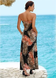 Back View Strapless Maxi Dress