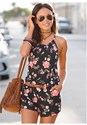 Front View Casual Floral Print Romper