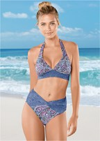 6057c0639 Purple Wave HALTER RING BIKINI TOP Swimsuit - VENUS