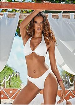 underwire halter bikini top