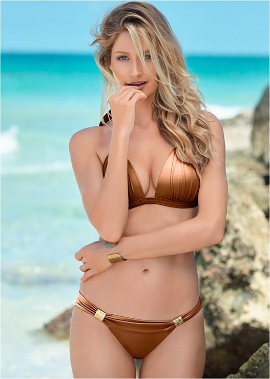 d3642dae33 Shiny Copper GODDESS ENHANCER PUSH UP Bikini