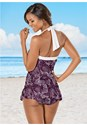 Alternate View Skirted Halter One-Piece