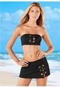 Front view Grommet Bandeau Bikini Top