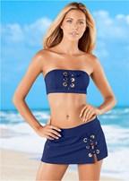 grommet bandeau bikini top