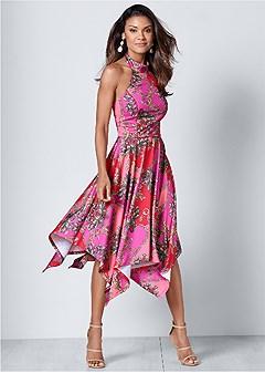 halter handkerchief dress