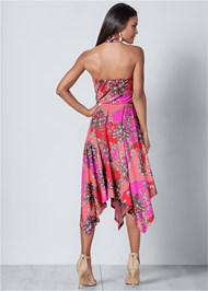 Back View Halter Handkerchief Dress