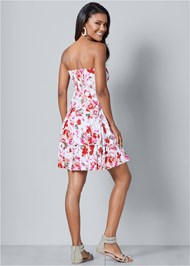 Back view Floral Printed Casual Dress