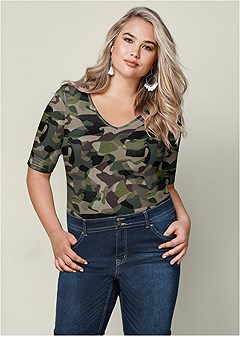 plus size long and lean tee