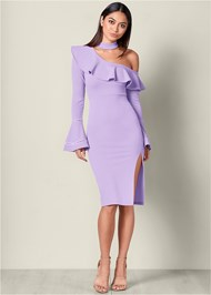 Ruffle Detail Bodycon Dress