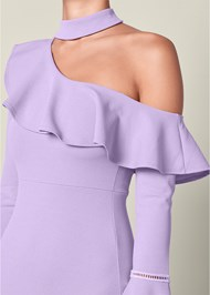 Alternate View Ruffle Detail Bodycon Dress