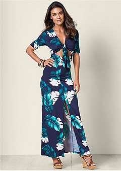 cut out detail maxi dress