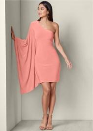 Alternate View One Shoulder Bodycon Dress