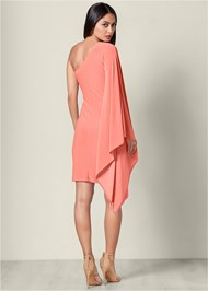 Back View One Shoulder Bodycon Dress