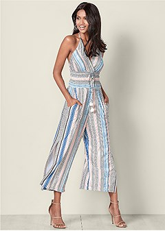 fa9b390cfa2 TASSEL DETAIL JUMPSUIT in Light Blue Multi