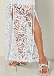 Alternate View Crochet V-Neck Maxi Dress