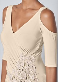 Alternate View Lace Cold Shoulder Top
