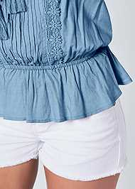 Alternate View Tassel Detail Strapless Top