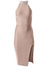 Alternate View Slimming Pearl Detail Dress