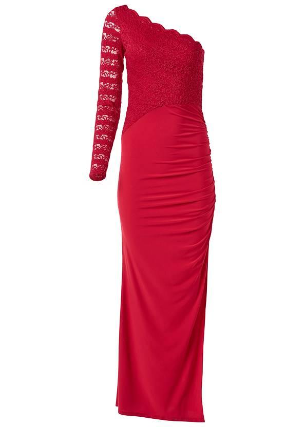 Alternate View One Shoulder Long Dress