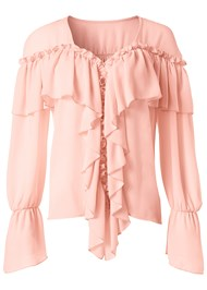 Alternate View Ruffle Detail Top