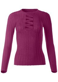 Alternate View Strappy Detail Sweater