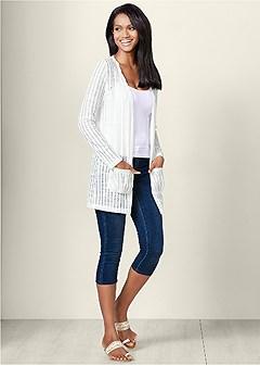 slit detail sweater