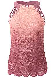 Alternate View Glitter Ombre Lace Top