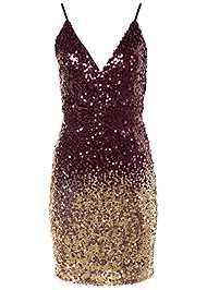 Alternate View Ombre Sequin Mini Dress
