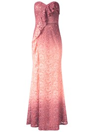 Alternate View Ombre Glitter Long Dress