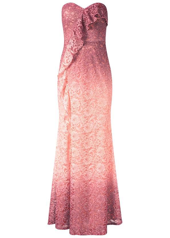 Alternate View Ombre Glitter Long Dress