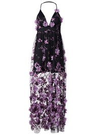 Alternate View 3D Floral Long Dress