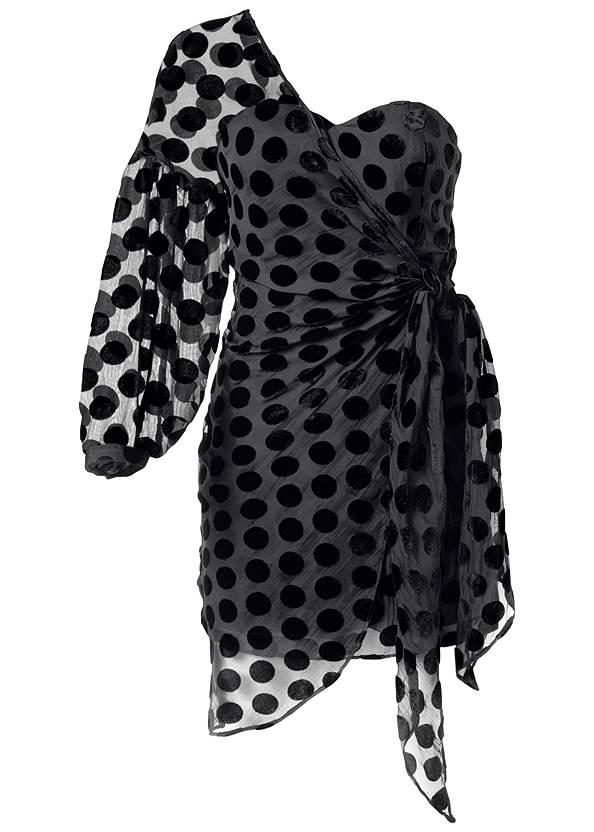 Alternate View Wrap Detail Mini Dress