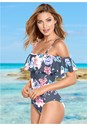 Front view Ruffle One-Piece