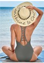 Back view Strappy Racerback One-Piece