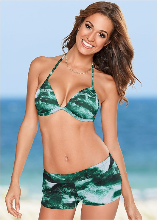ENHANCER PUSH UP TRIANGLE,SWIM SHORT,SKIRTED SWIM BIKINI BOTTOM,SCOOP FRONT BIKINI BOTTOM,LOW RISE BIKINI BOTTOM