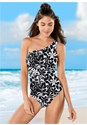 Front View One Shoulder One-Piece
