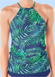 Alternate view Ruched Side Halter Tankini