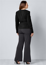 Back View Belted Pant Suit Set