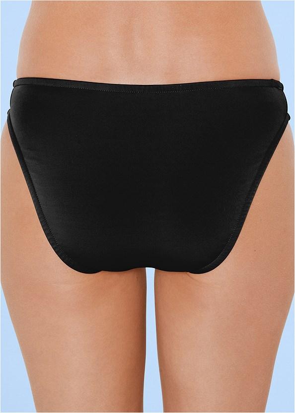 IwaWhy Scoop Front Bikini Bottoms Black