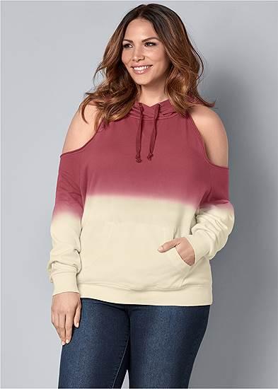 Plus Size Cold Shoulder Sweatshirt