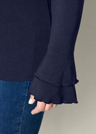 Alternative Ruffle Sleeve Mock Neck Top
