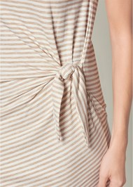 Alternate View Striped Tie Dress